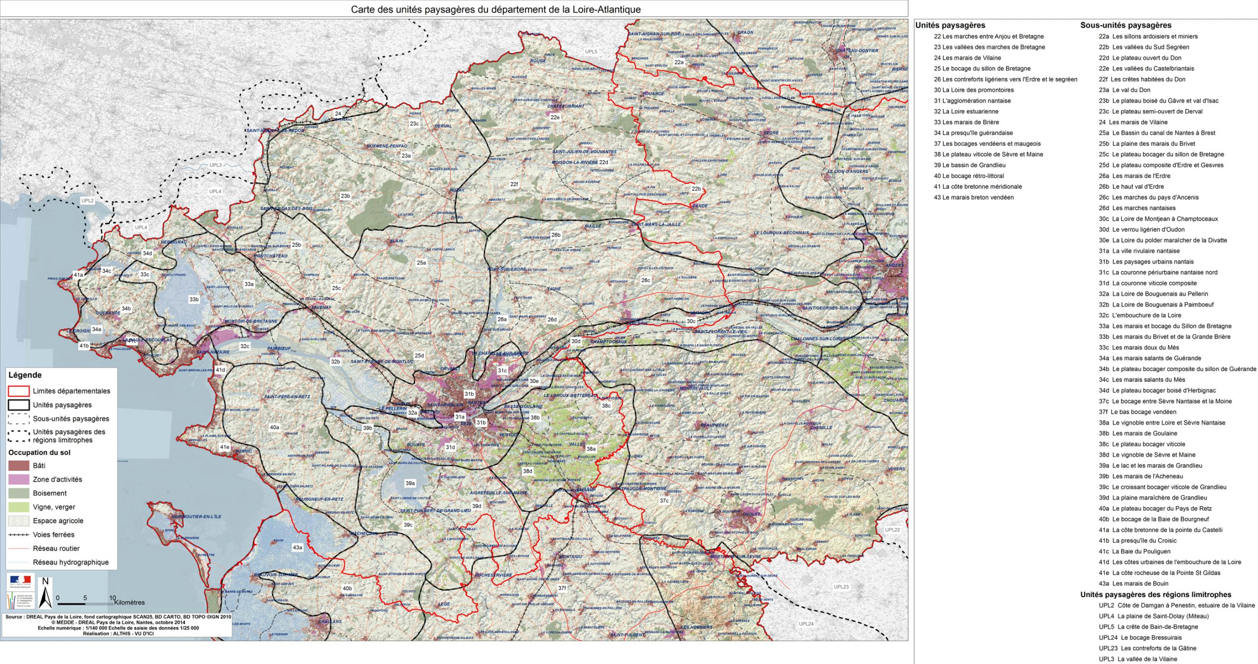 Cartes Départementales Des Unités Paysagères - Atlas De concernant Carte De Departement A Imprimer