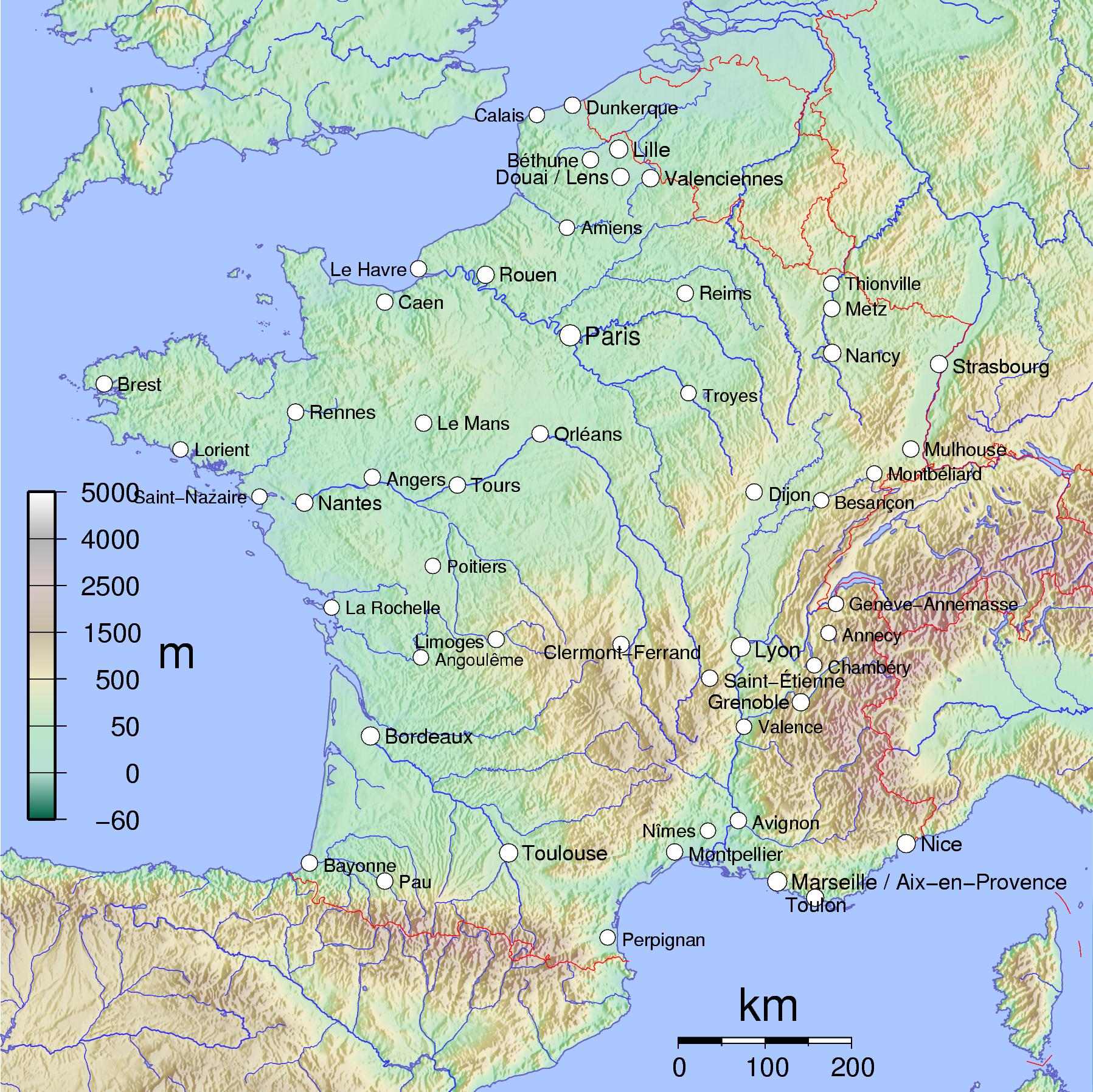 Cartes Des Villes Et Quiz - Cartes De France tout Voir La Carte De France