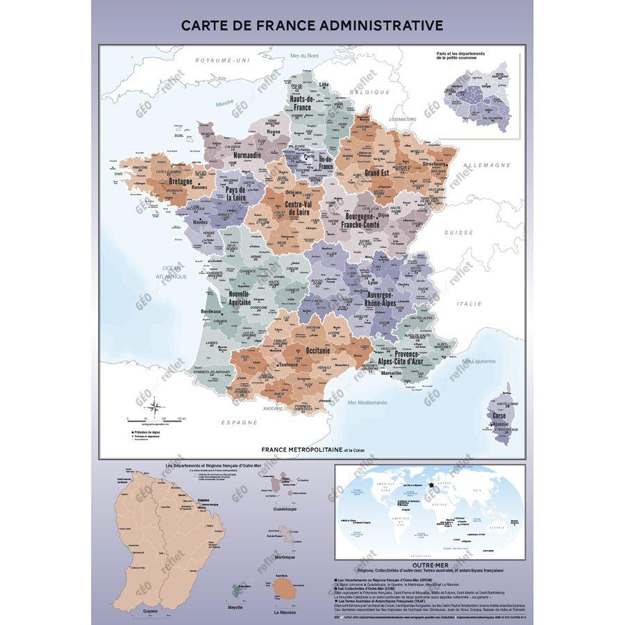Cartes Géographiques - Tous Les Fournisseurs - Carte De à Carte De France Dom Tom