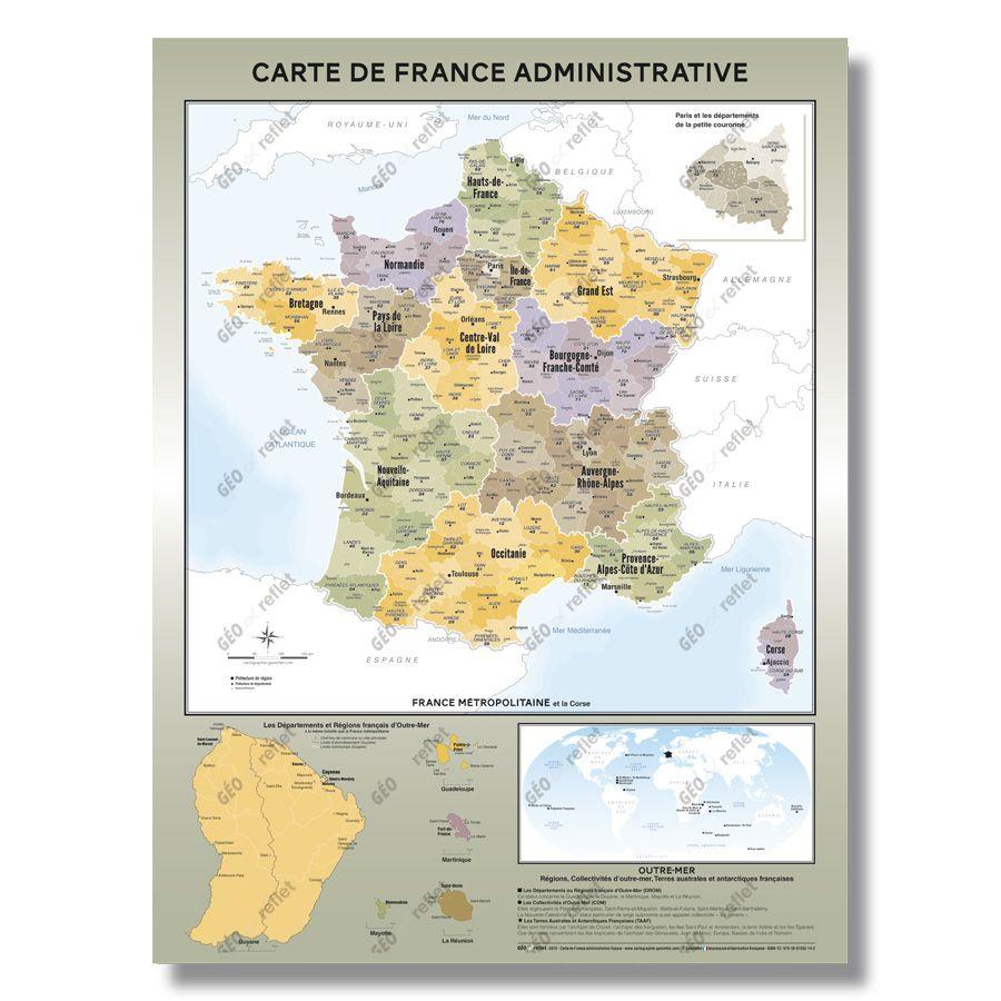 Cartes Géographiques - Tous Les Fournisseurs - Carte De concernant Carte De France Dom Tom