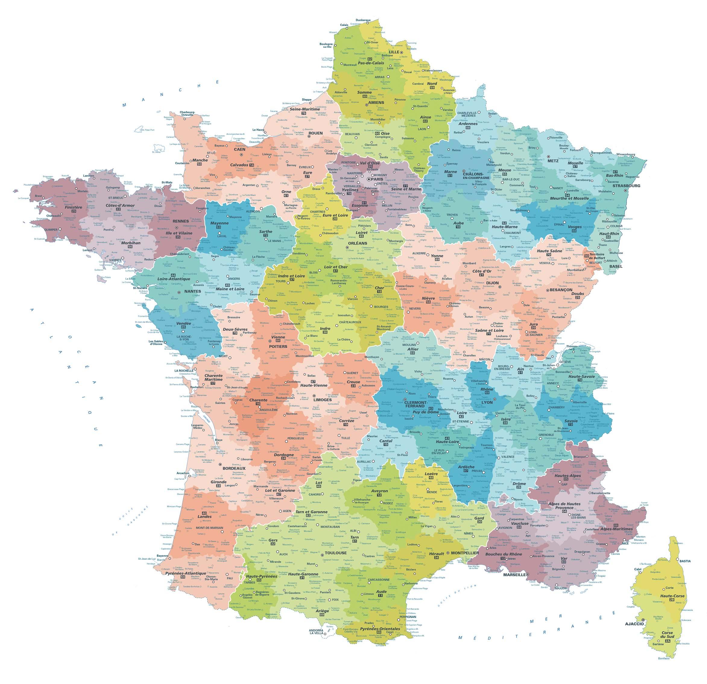 Cartes Géographiques - Tous Les Fournisseurs - Carte De serapportantà Carte Des Villes De France Détaillée