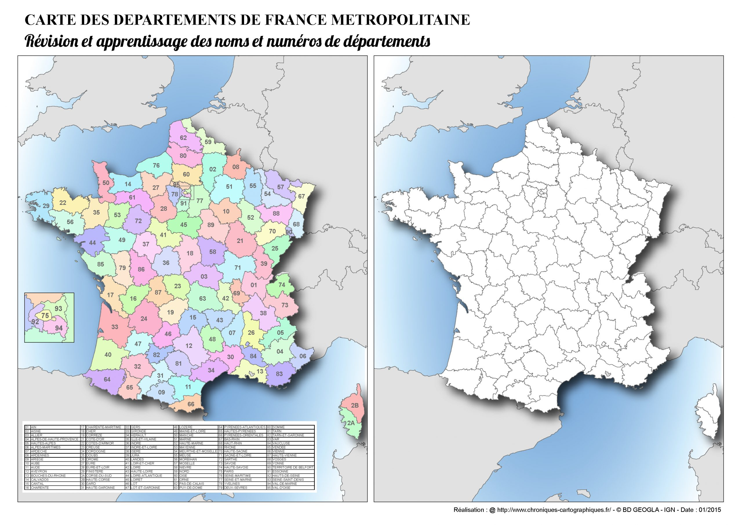 Cartes Muettes De La France À Imprimer - Chroniques avec Le Découpage Administratif De La France Ce2