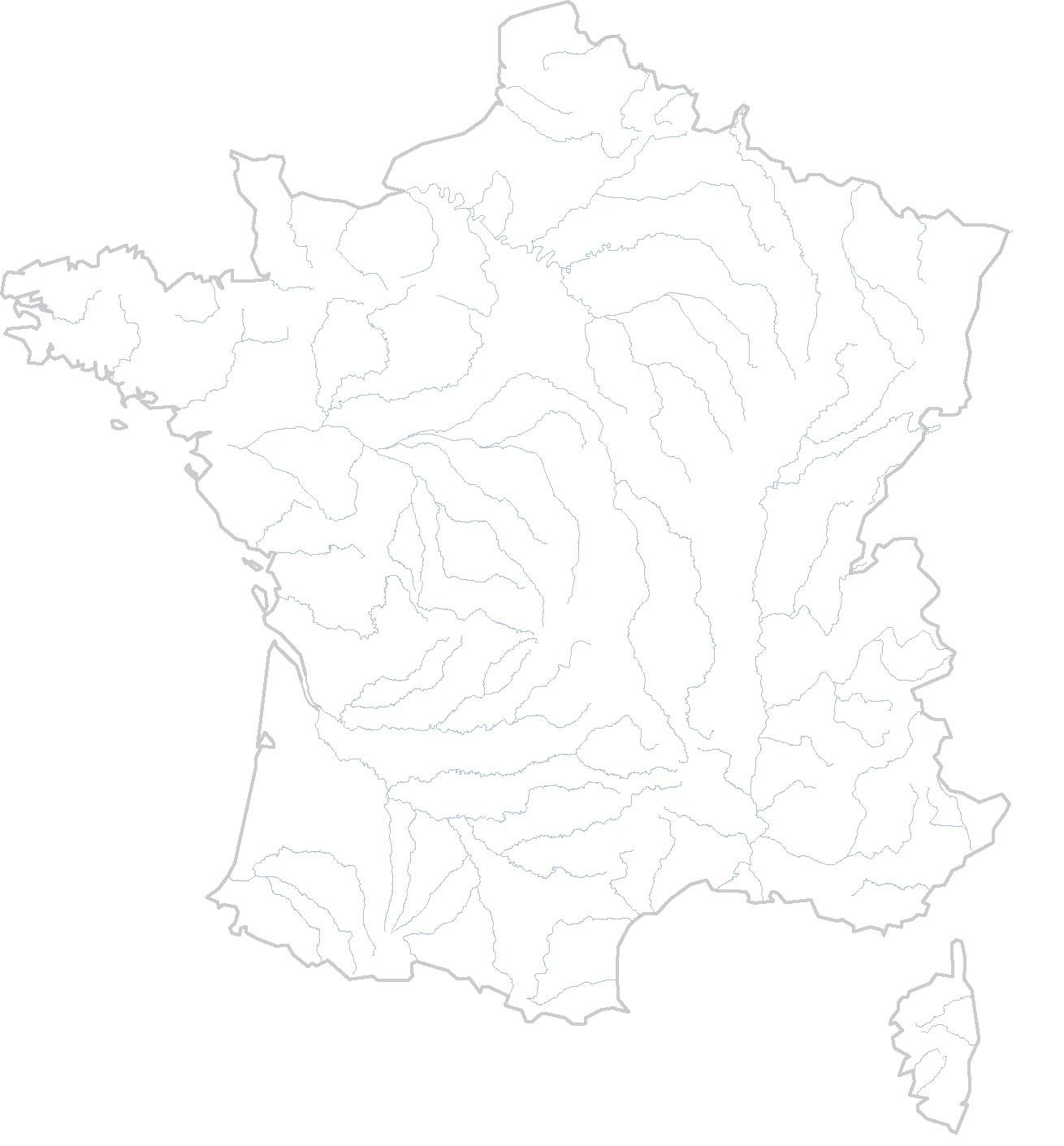 Cartes Muettes De La France À Imprimer - Chroniques tout Carte De France Des Fleuves