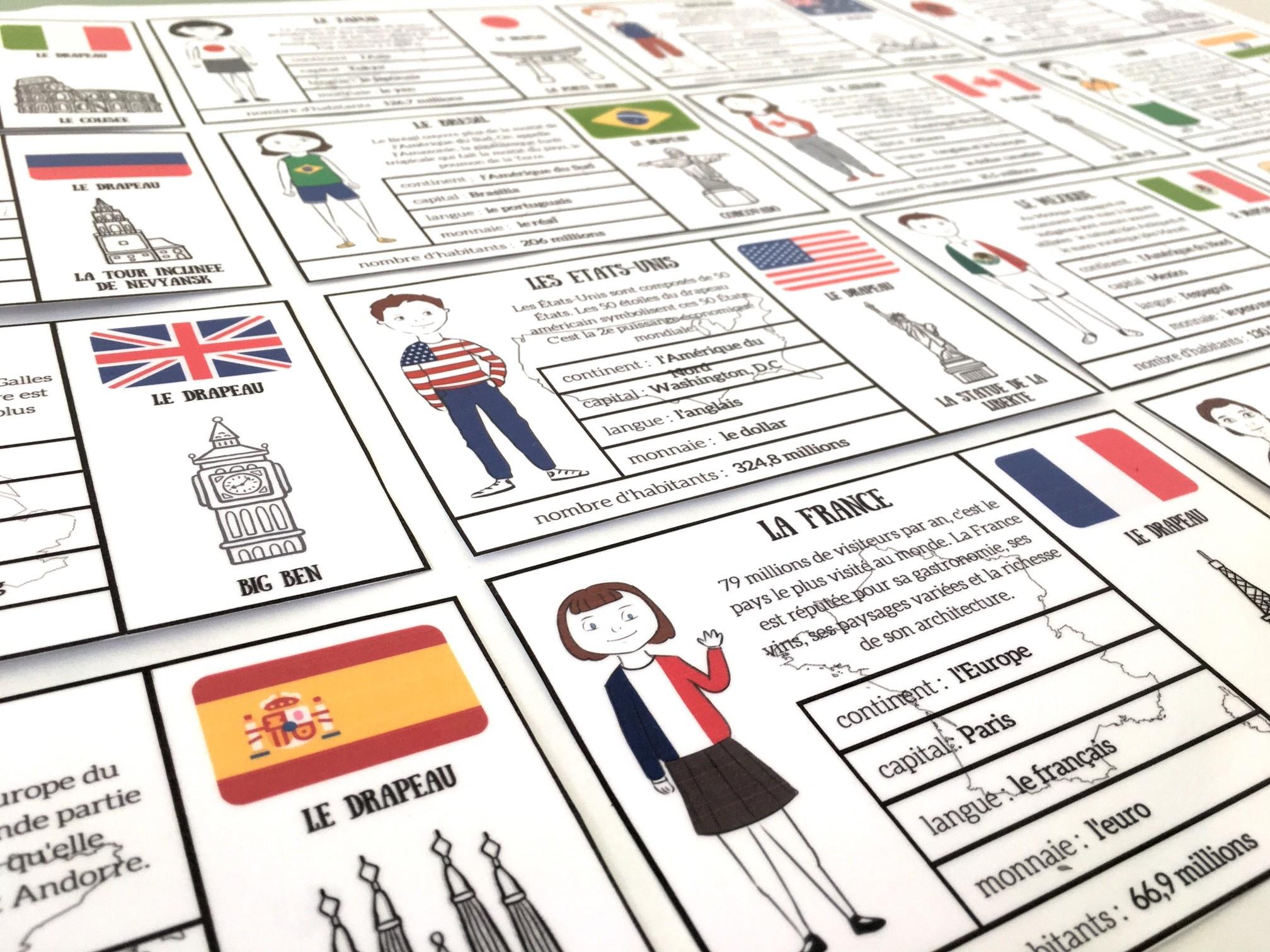 Cartes Pays : 30 Cartes Pour Découvrir Le Monde destiné Pays D Europe Jeux Gratuit