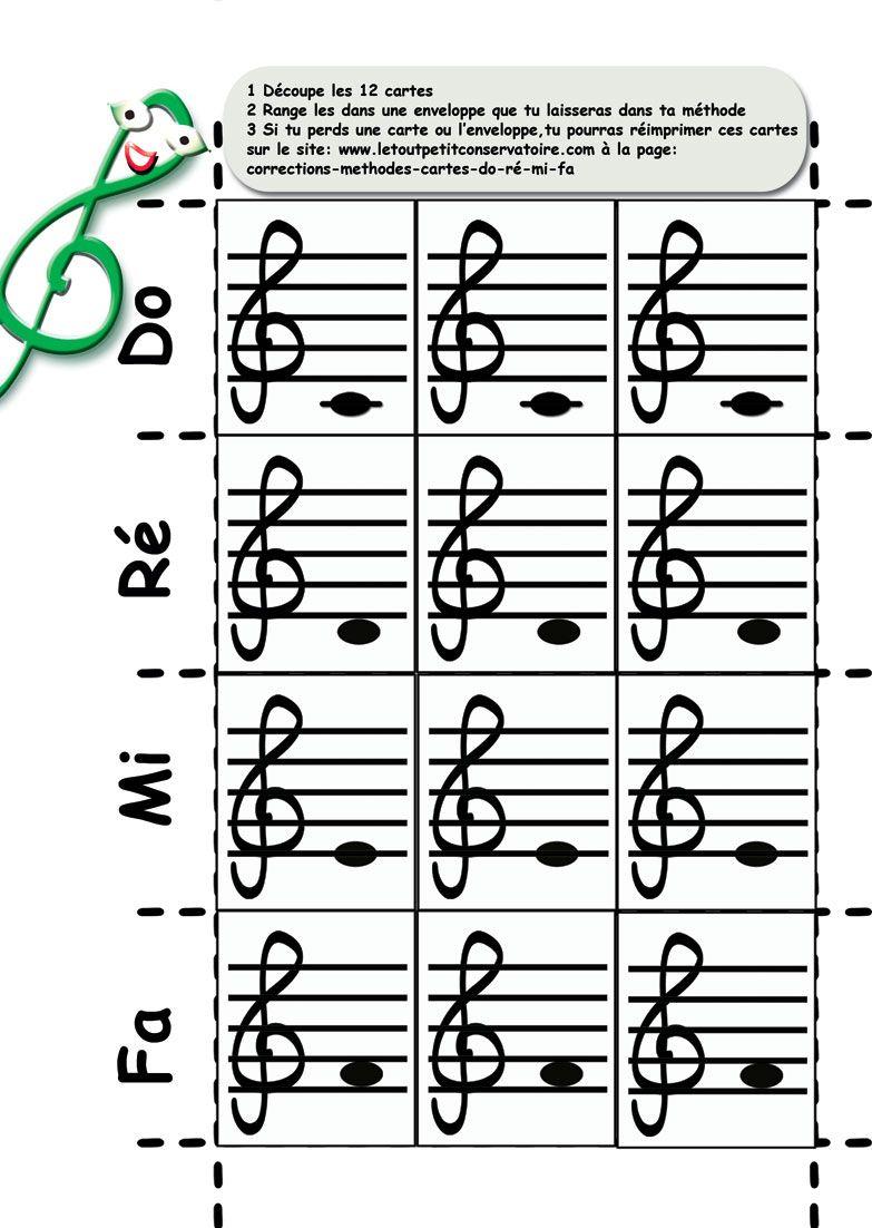 Cartes Pour Apprendre Les Notes De Musique Do Re Mi Fa destiné Site Pour Tout Petit