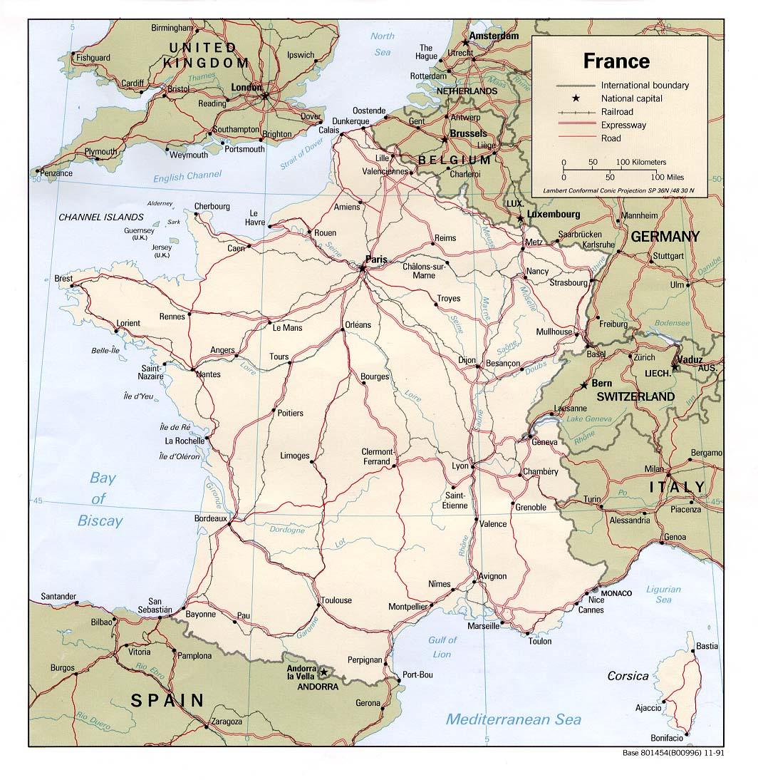 Cartes Routières encequiconcerne Carte Routiere France Gratuite