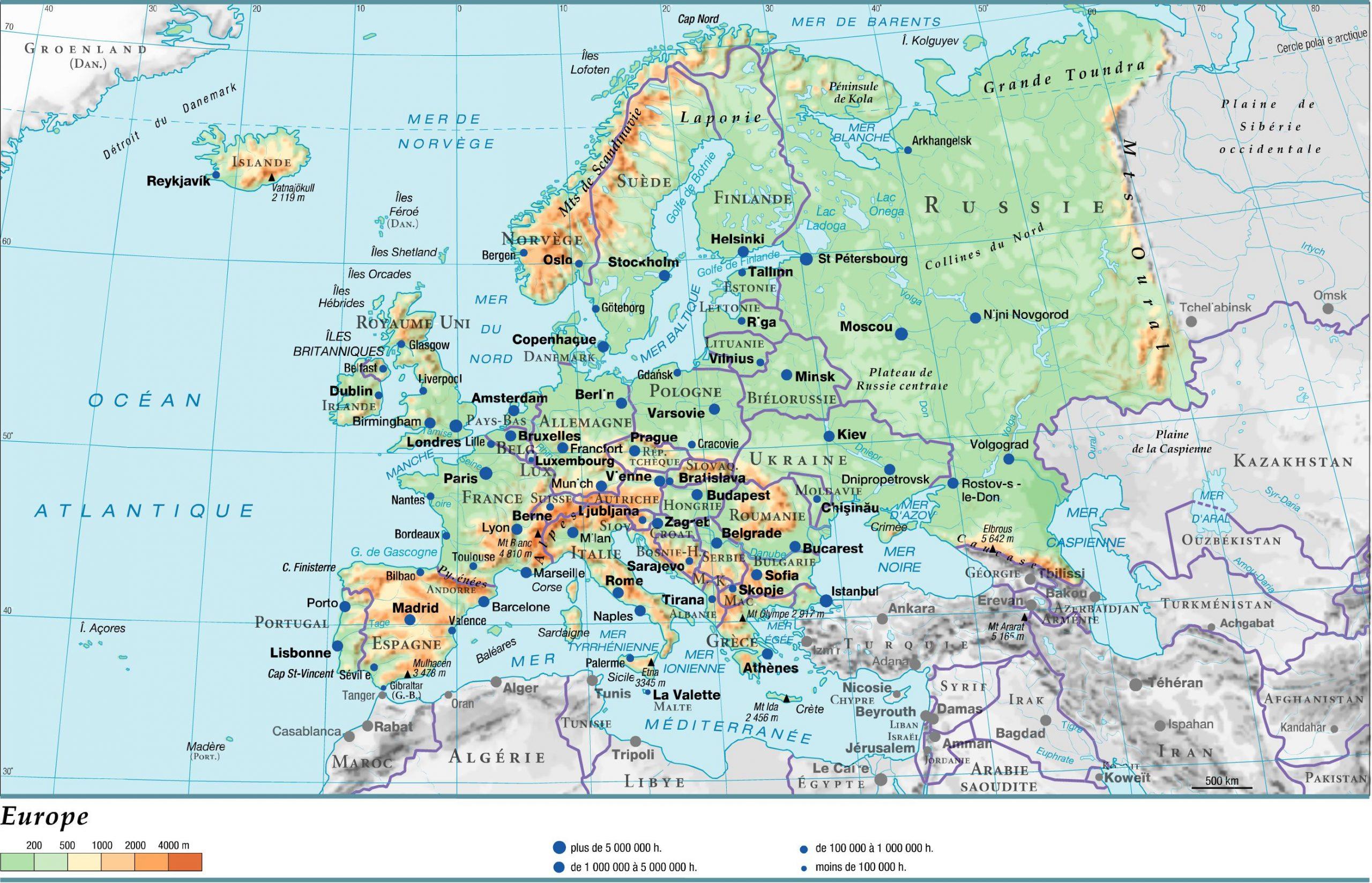Cartograf.fr : Carte Europe : Page 7 concernant Carte Fleuve Europe Vierge