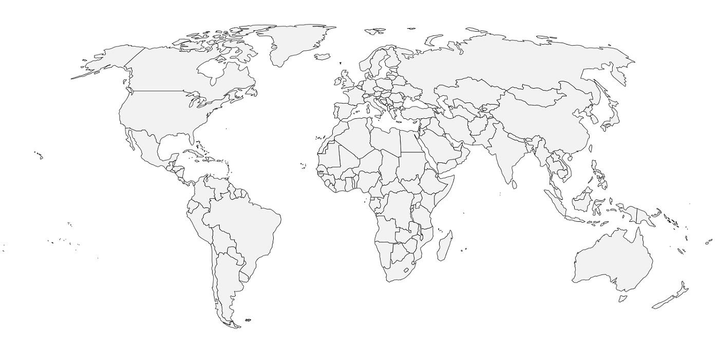 Cartograf.fr : Diverses Cartes Du Monde Géographiques destiné Carte Vierge À Imprimer