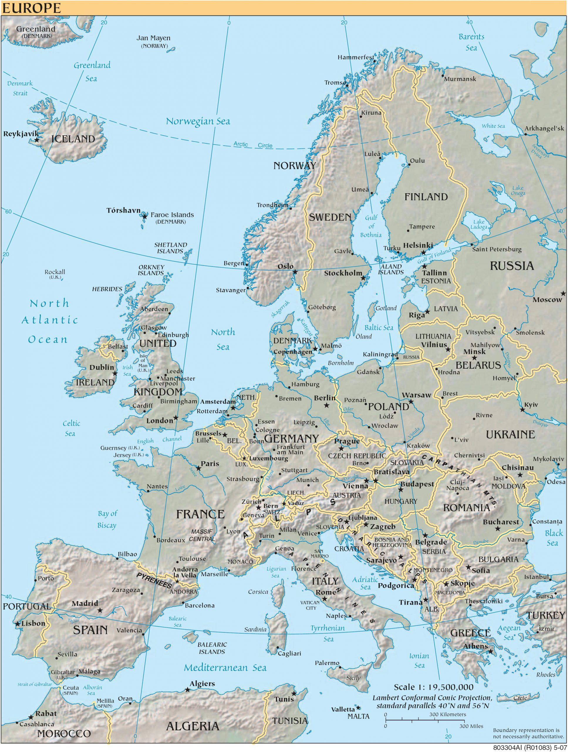Cartograf.fr : Les Cartes Des Continents : L'europe à Carte De L Europe En Relief