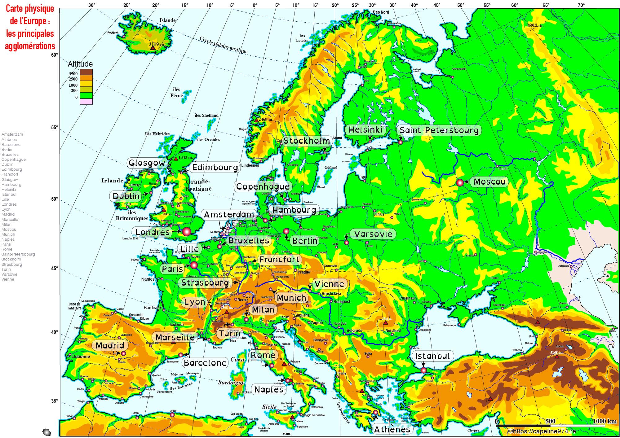 Cartograf.fr : Les Cartes Des Continents : L'europe : Page 4 tout Carte De L Europe En Relief