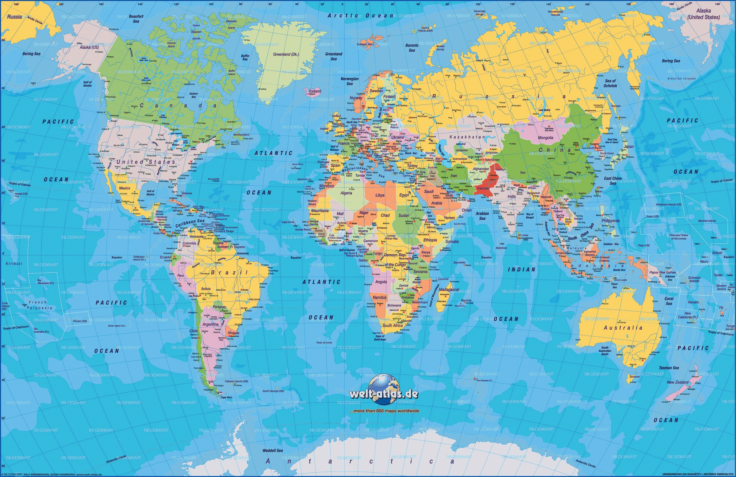 Cartograf.fr : Toutes Les Cartes Des Pays Du Monde : Page 3 avec Pays Et Leurs Capitales