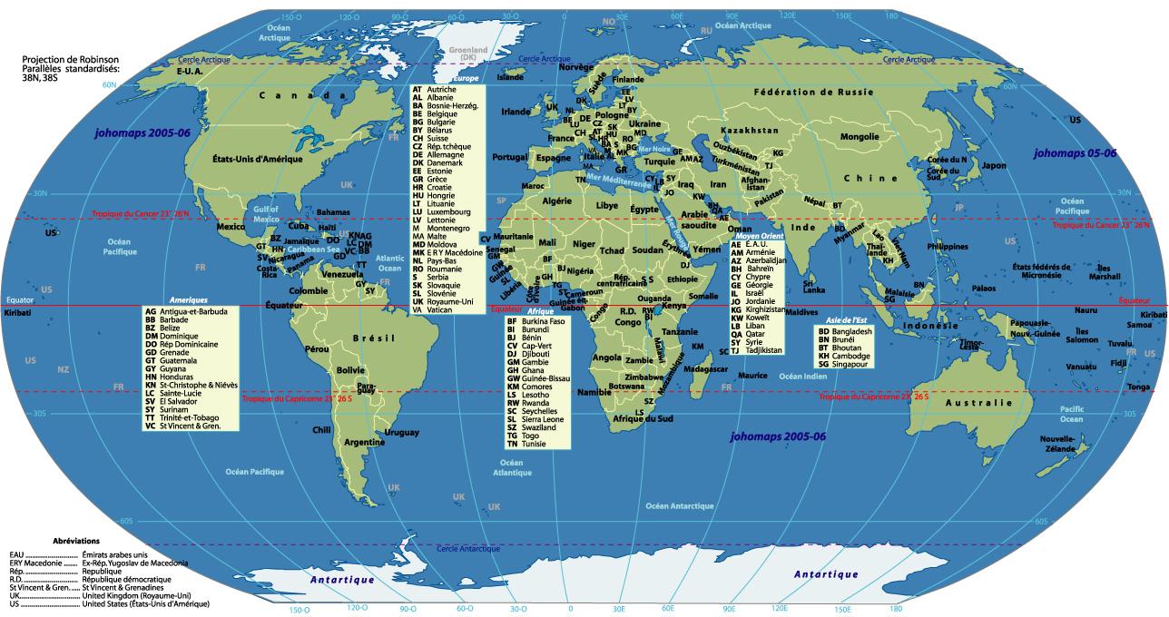 Cartograf.fr : Toutes Les Cartes Des Pays Du Monde : Page 3 pour Carte Du Monde Avec Capitales Et Pays