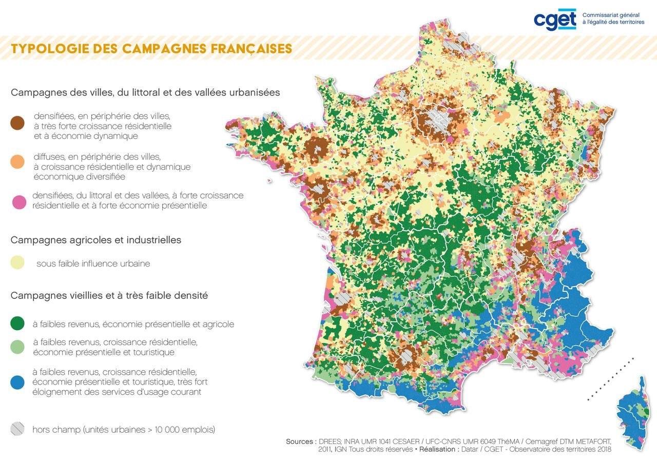 Cartographie Numérique: Cartographier Les Espaces Ruraux En concernant Exercice Carte De France