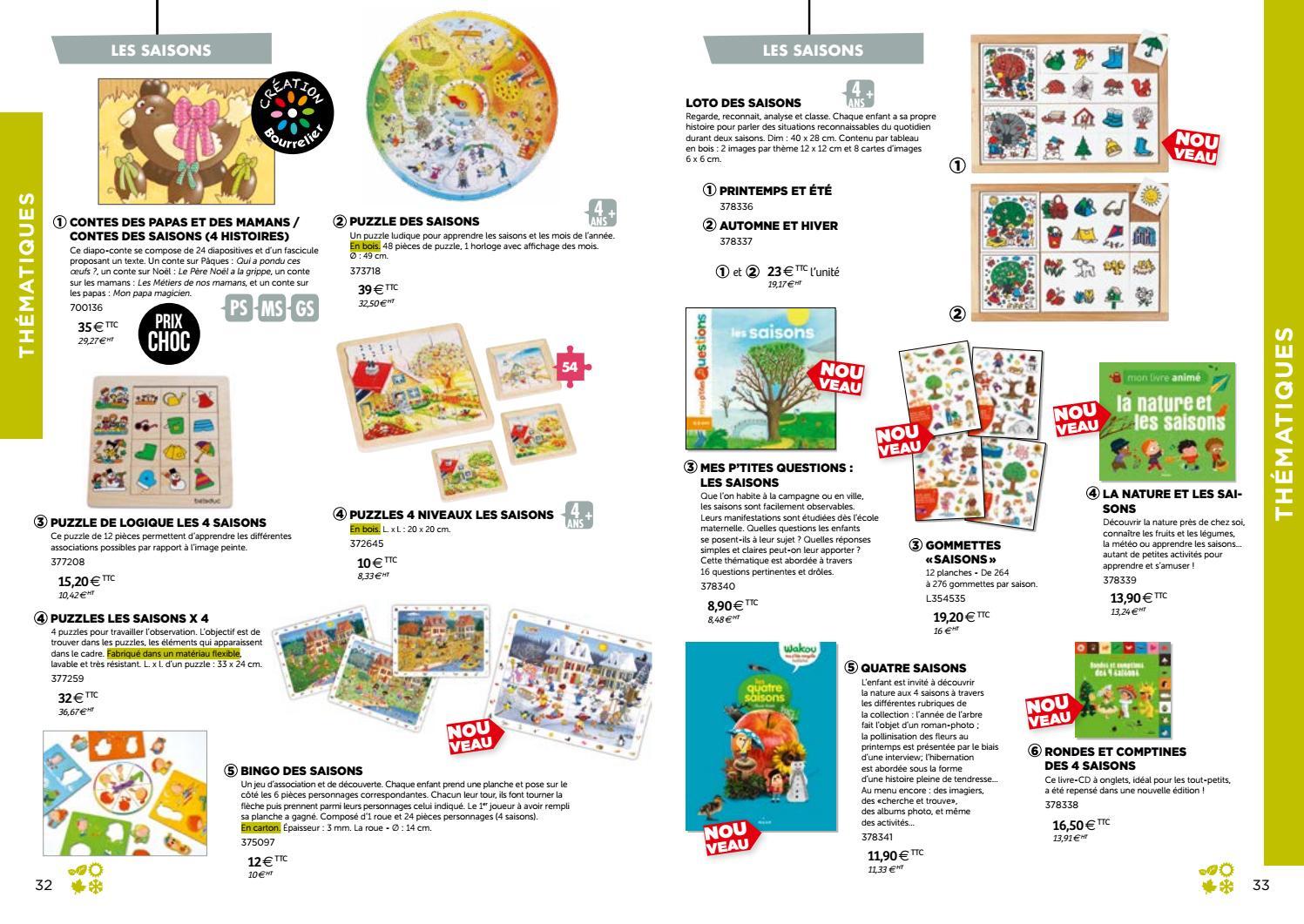 Catalogue Bourrelier Education 3 6 Ans 2018 By Bourrelier dedans Apprendre Les Saisons En Maternelle