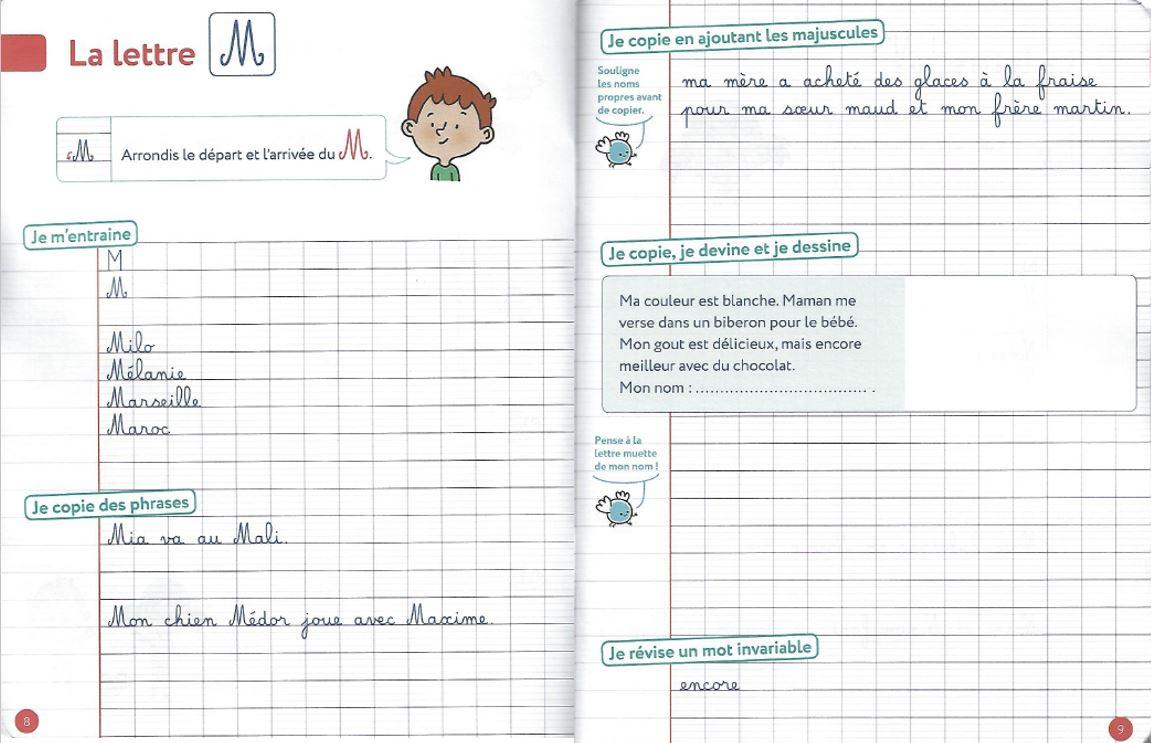 Ce1/ce2 • Français • « Mes Cahiers D'écriture - Les concernant Écriture Des Lettres Majuscules
