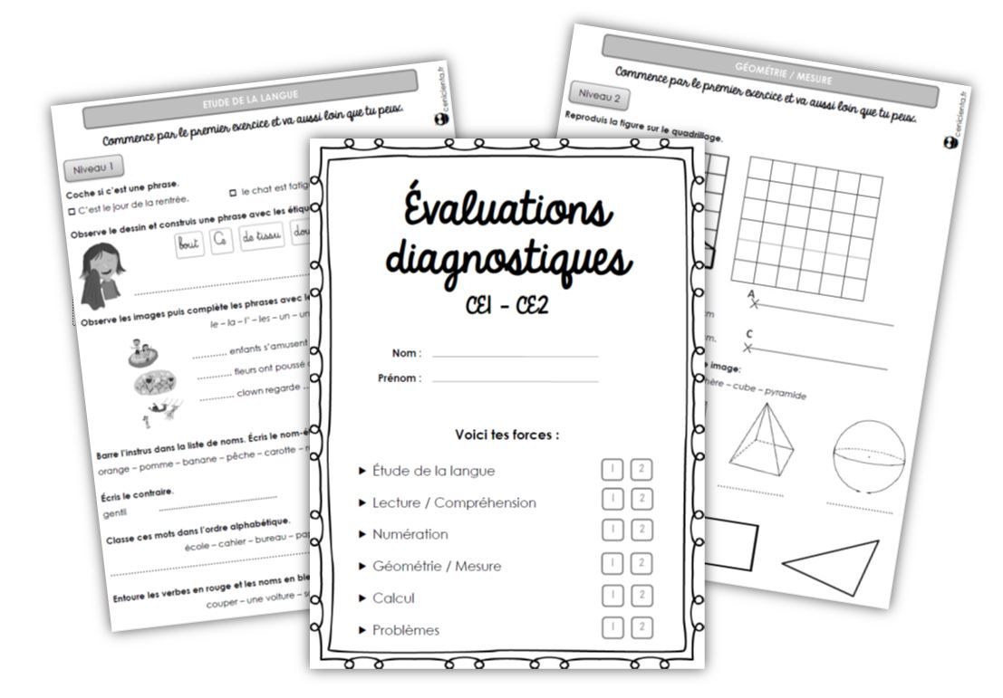 Ce1/ce2 • Outils • Evaluations Diagnostiques ~ concernant Exercice Problème Ce1