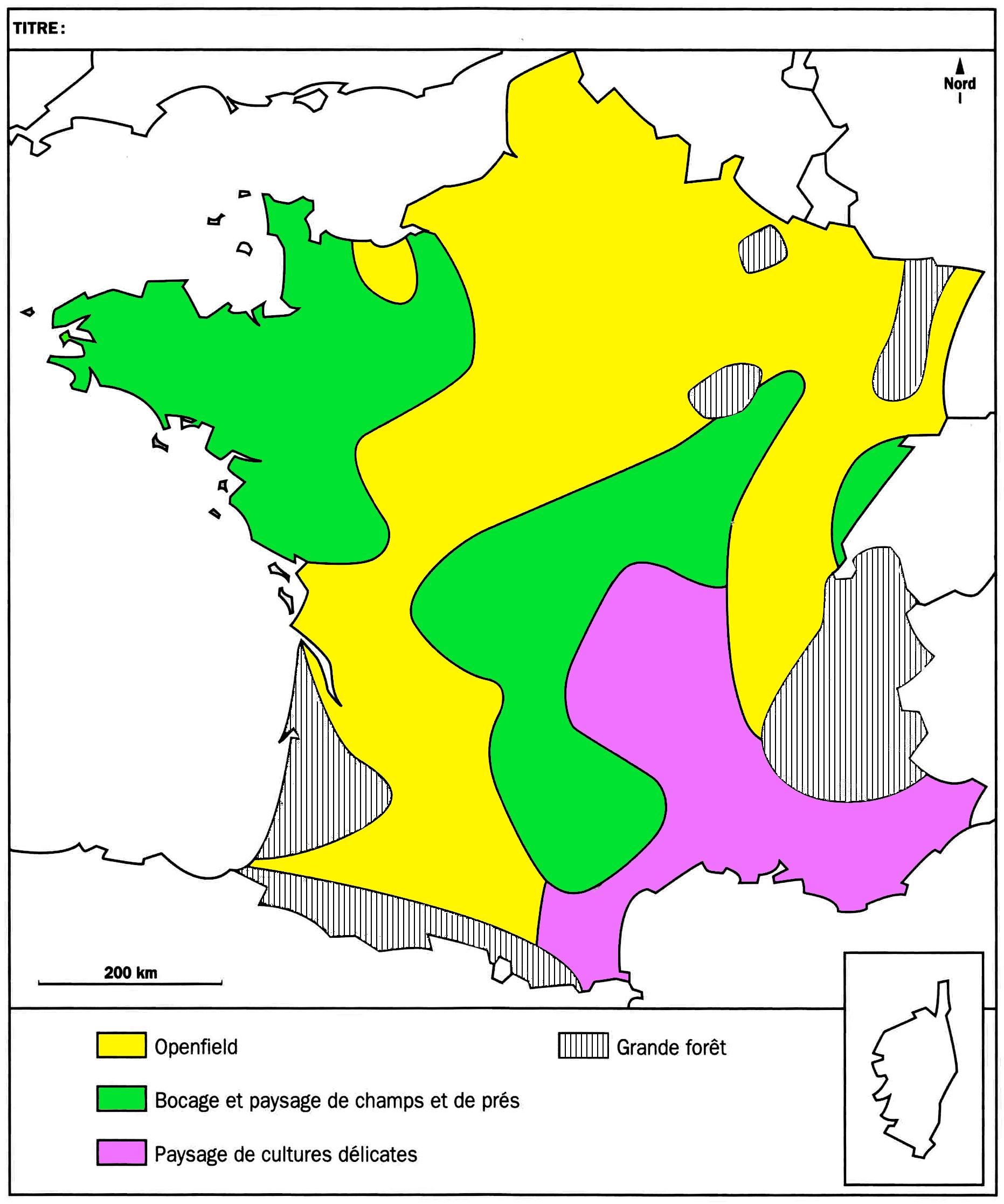 Ce2 • Géographie • Le Milieu Rural (La Campagne) ~ encequiconcerne Carte De France Ce2