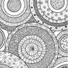 Cercles Decorats | Coloriage, Zentangle, Coloriage Anti Stress tout Coloriage Graphique