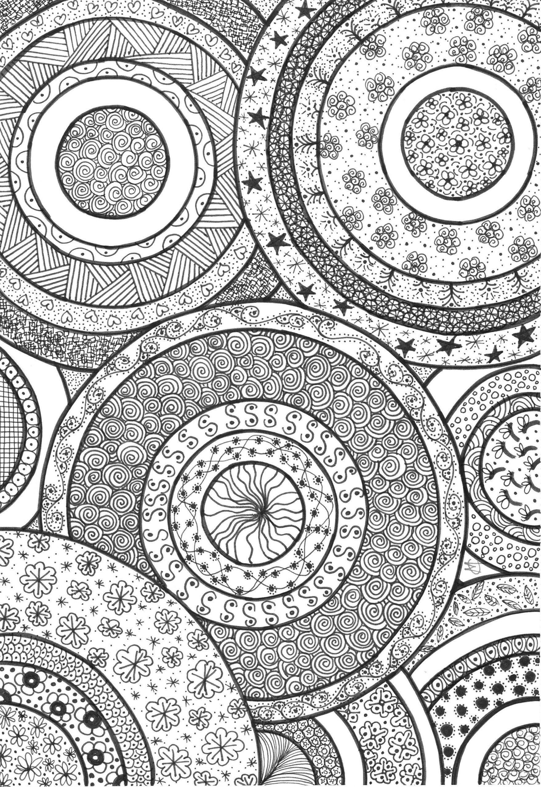 Cercles Decorats   Coloriage, Zentangle, Coloriage Anti Stress tout Coloriage Graphique