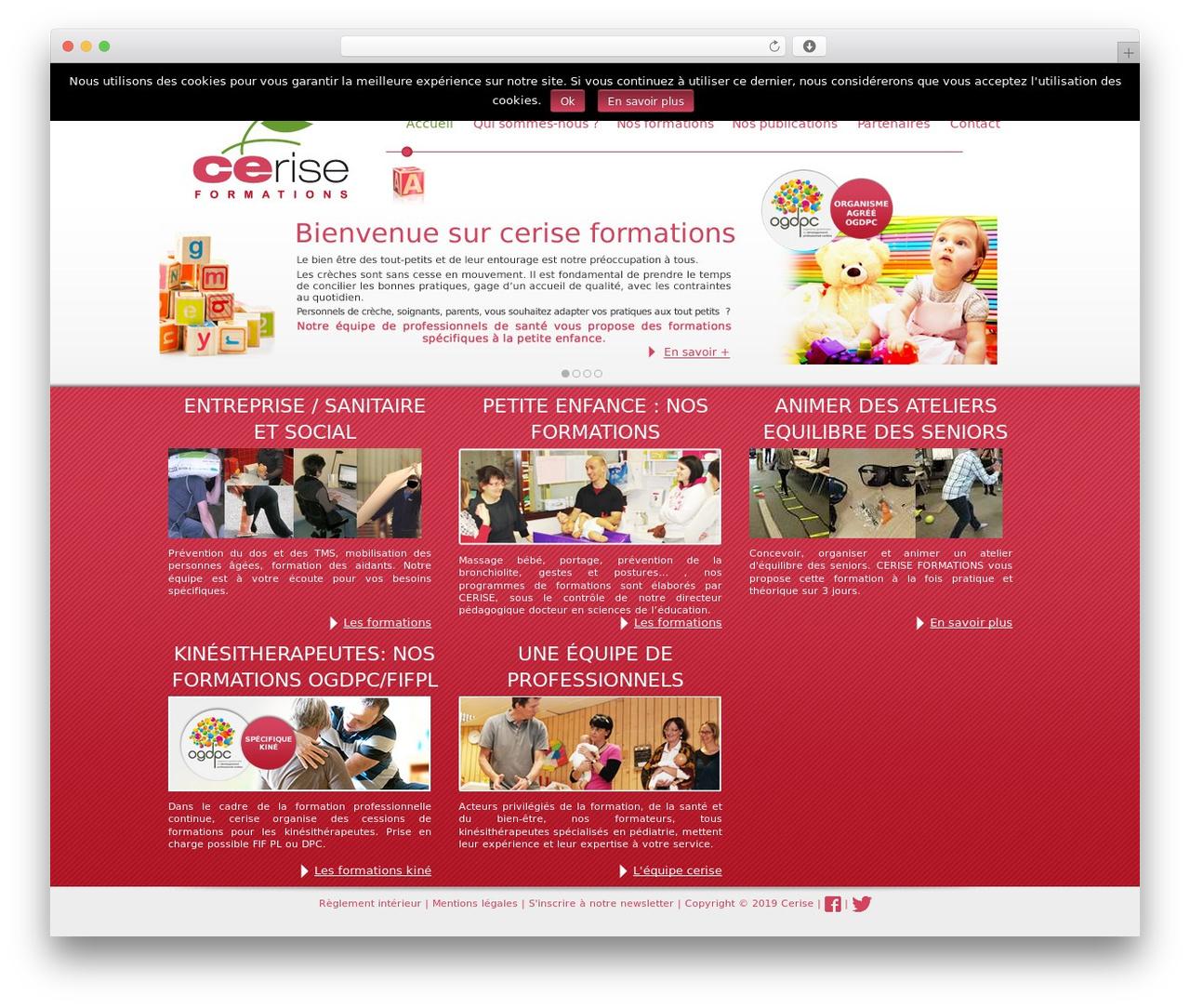 Cerise Best Wordpress Template By Weblizar - Ceriseformations.fr pour Site Pour Tout Petit