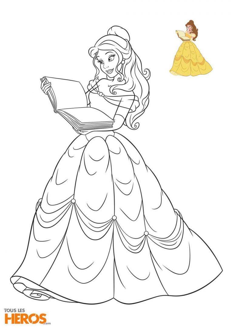 Cette Semaine, Tous Les Héros Vous Propose D'imprimer 5 à Princesse À Colorier Gratuit