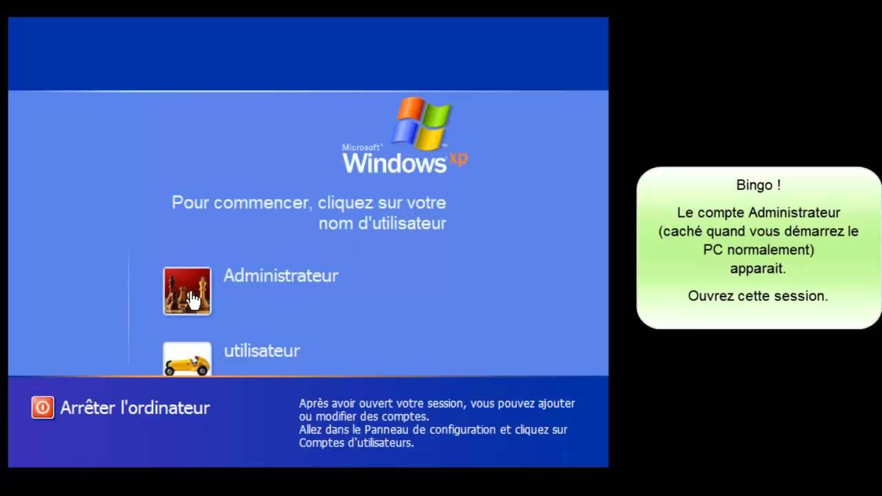 Changer Le Mot De Passe De Session Perdu Sous Windows Xp concernant Ordi Mots