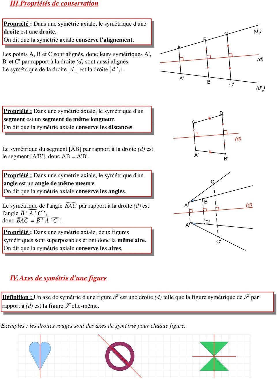 Chapitre 11 : Symétrie Axiale - Pdf Free Download pour Symétrie Axial