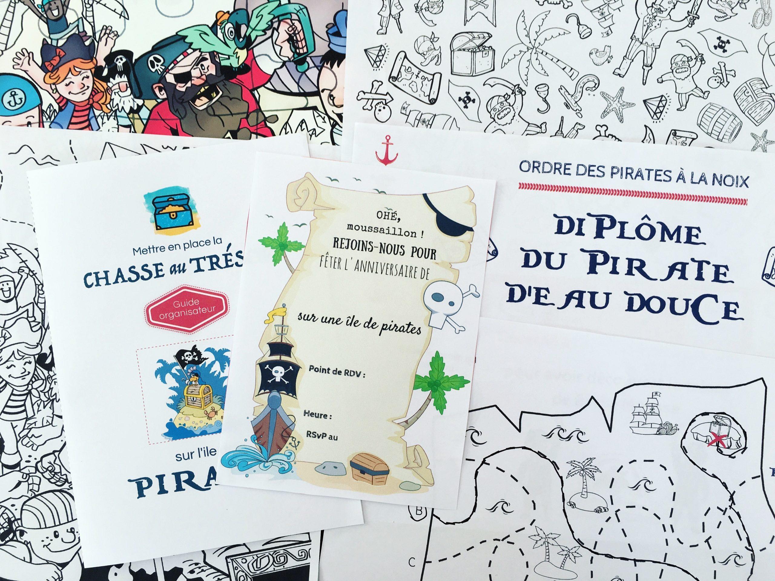 Chasse Au Trésor À Imprimer Pour Un Anniversaire De Pirates tout Petit Jeux 3 5 Ans