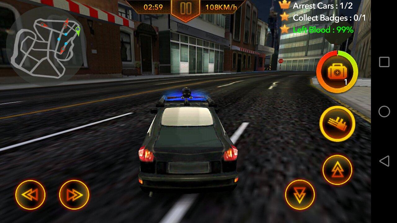 Chasse De Voiture De Police 1.0.4 - Télécharger Pour Android dedans Jeux De Voiture Avec La Police
