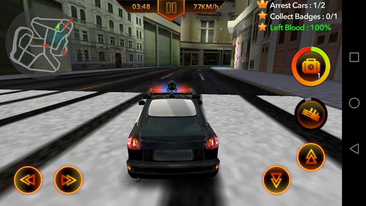 Chasse De Voiture De Police 1.0.4 - Télécharger Pour Android intérieur Jeux De Voiture Avec La Police