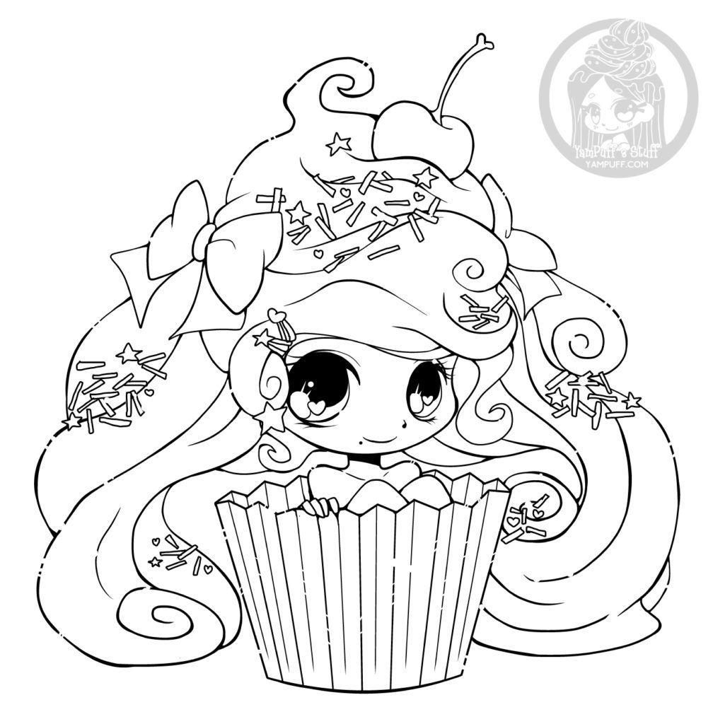 Chibi Cupcake Par Yampuff Coloriage Gratuit Imprimer tout Coloriage Gratuit À Imprimer Pour Fille