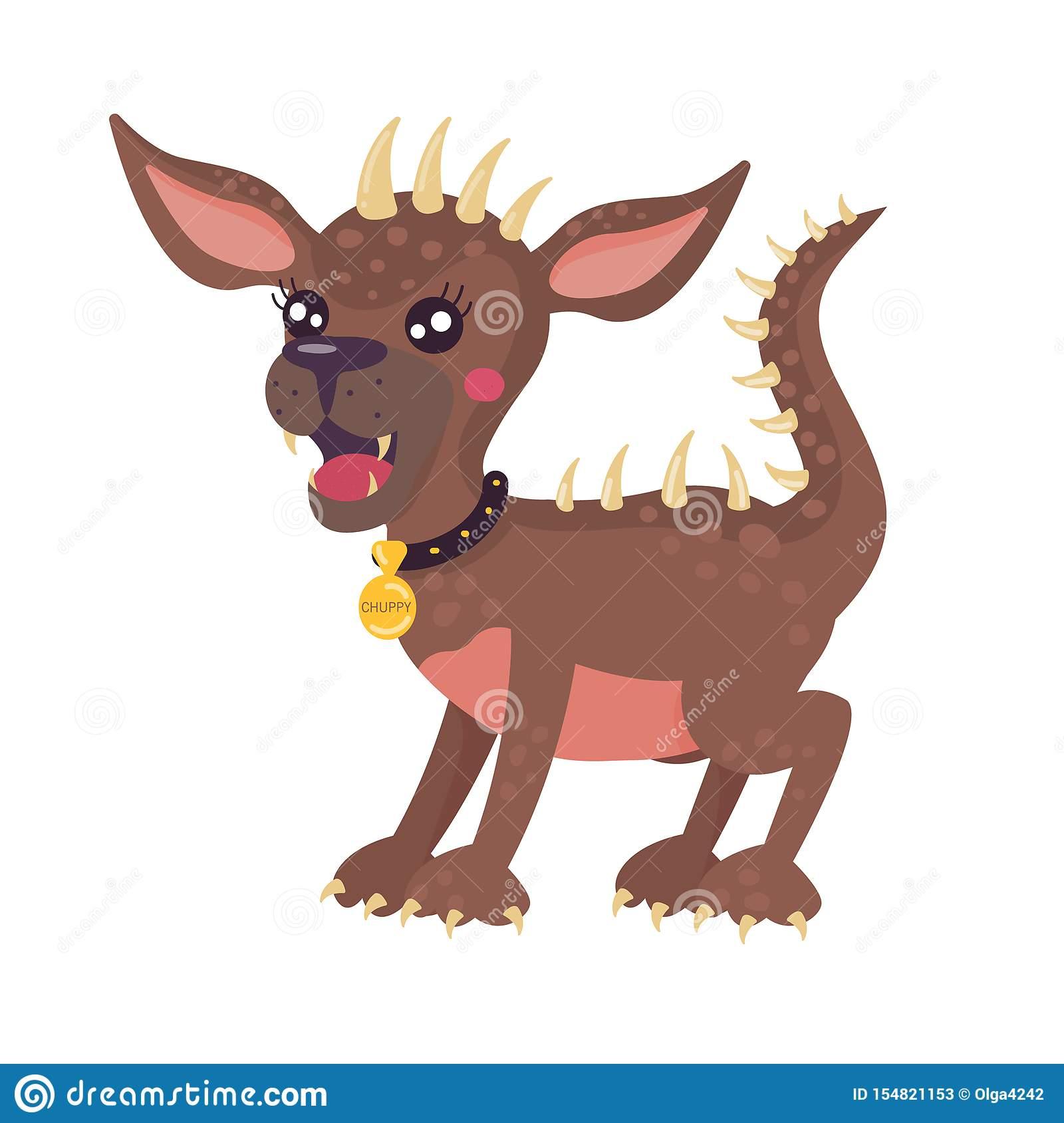 Chupacabra Animal Mythique Personnage De Dessin Anim? Stylis concernant Image D Animaux A Imprimer En Couleur