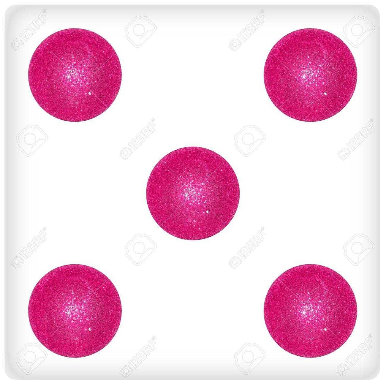 Cinq, Rose, Balles Noël, Des Bulles, Des Dés, Jeu, Dés, Jeux pour Jeux Des Bulles