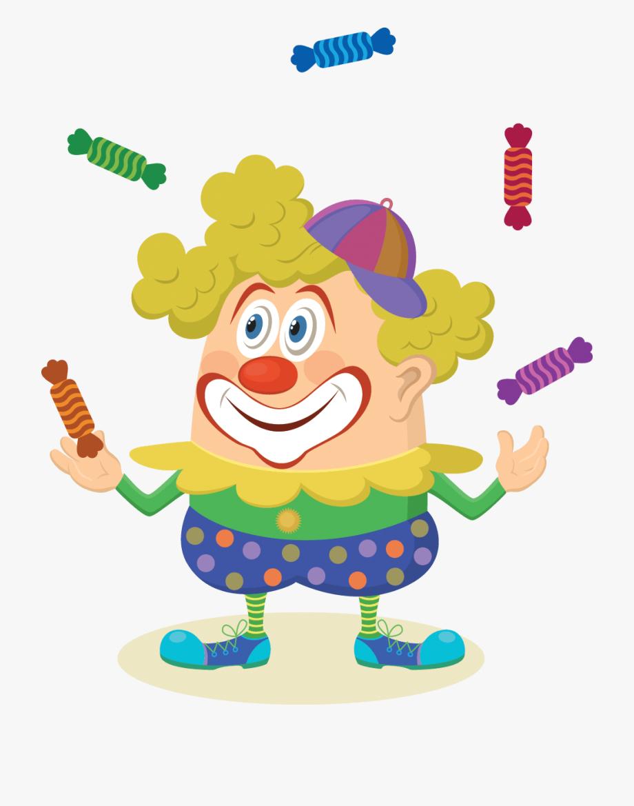 Circus Clown Juggling Candies - Couleur Clown En Dessin encequiconcerne Dessin De Clown En Couleur