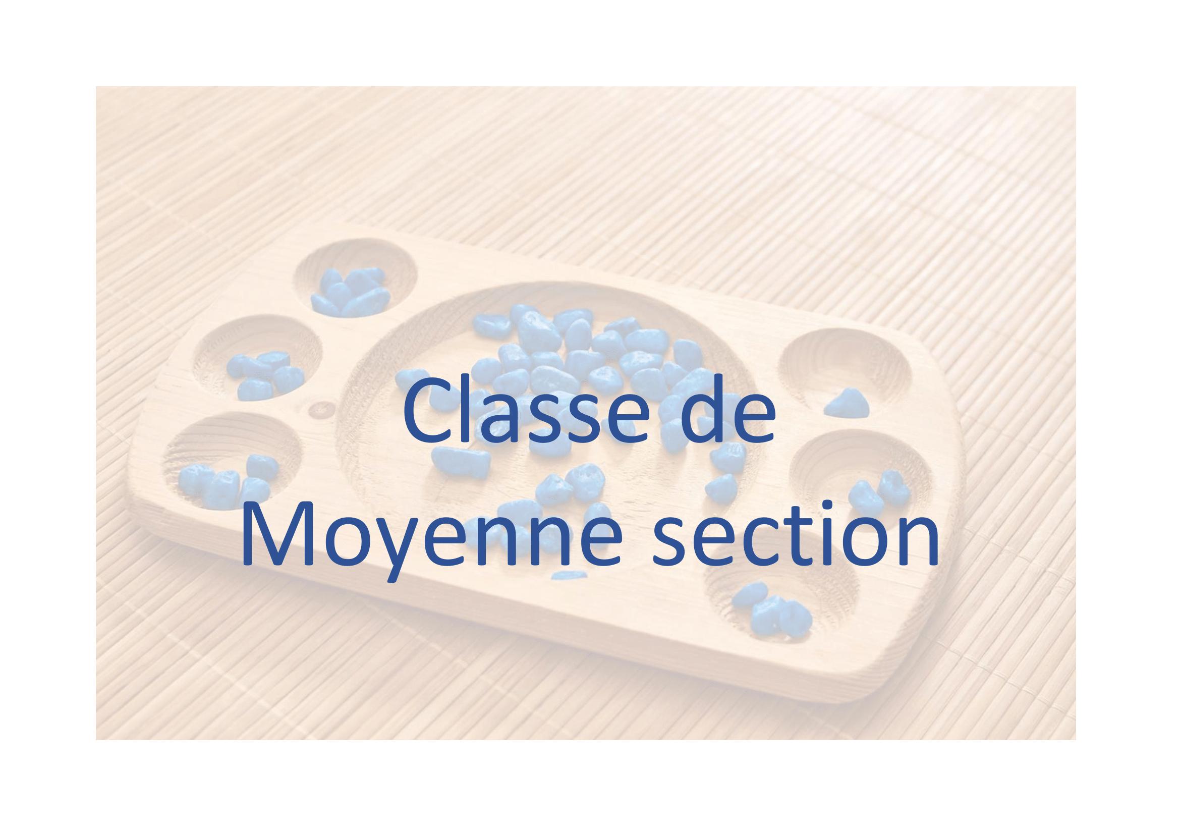 Classe De Moyenne Section intérieur Cours Moyenne Section Maternelle