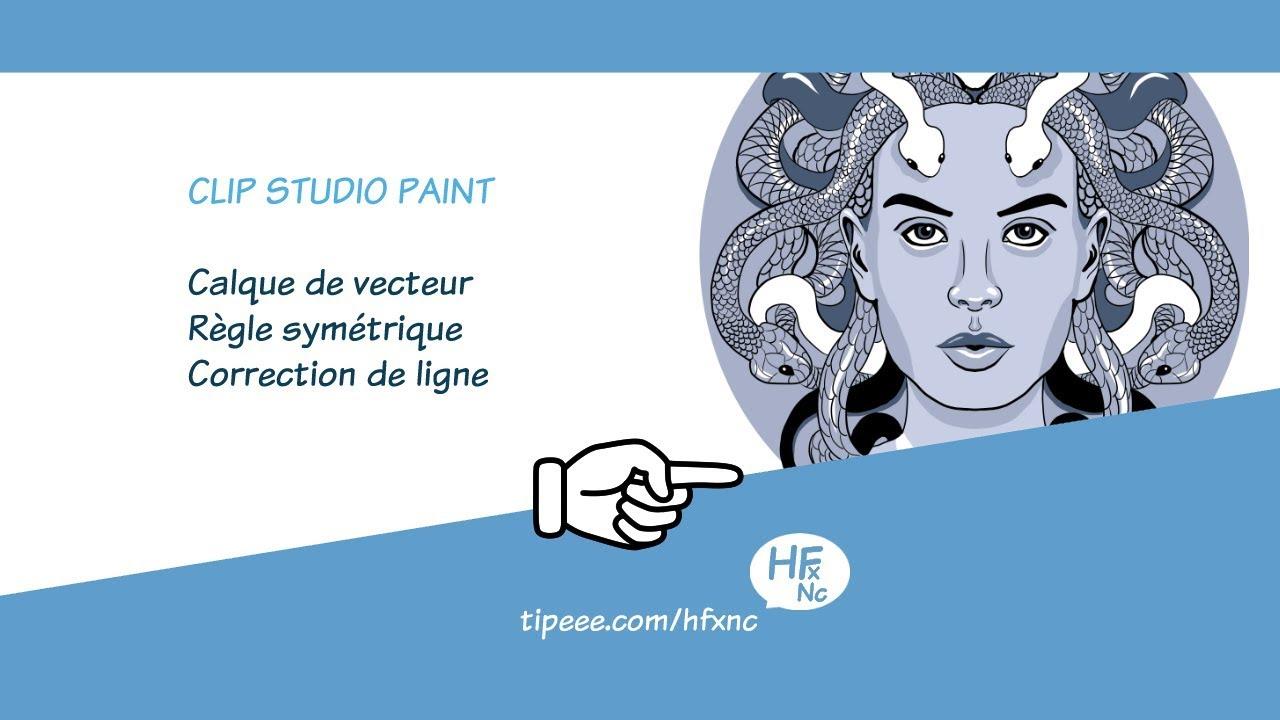 Clip Studio Paint : Vecteur, Symétrie, Correction De Ligne concernant Symétrie En Ligne