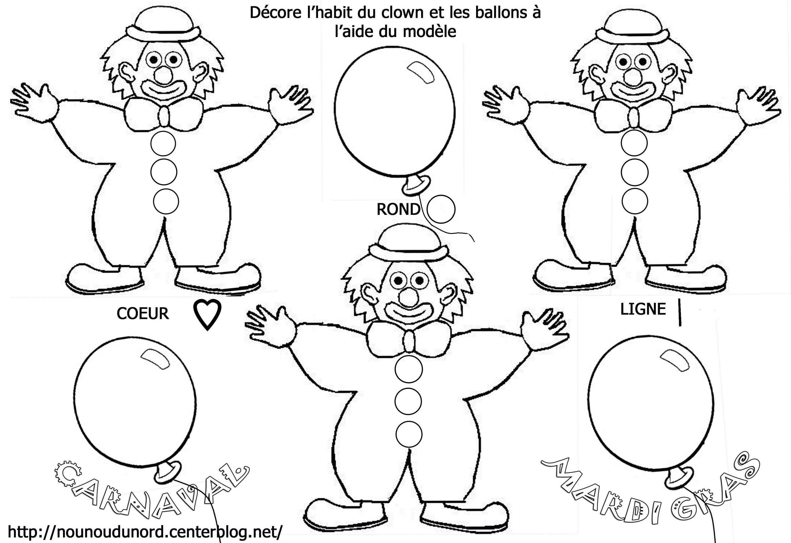 Clown #131 (Personnages) – Coloriages À Imprimer pour Coloriage Clown A Imprimer