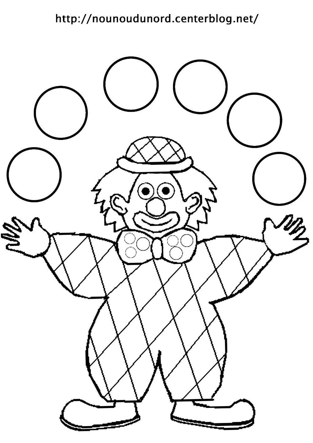 Clown #16 (Personnages) – Coloriages À Imprimer À Coloriage à Coloriage Tete De Clown