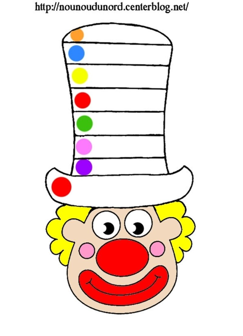 Clown À Gommettes | Coloriage Clown, Artisanat De Clowns avec Coloriage Clown A Imprimer