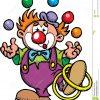 Clown De Couleur Illustration De Vecteur. Illustration Du tout Dessin De Clown En Couleur