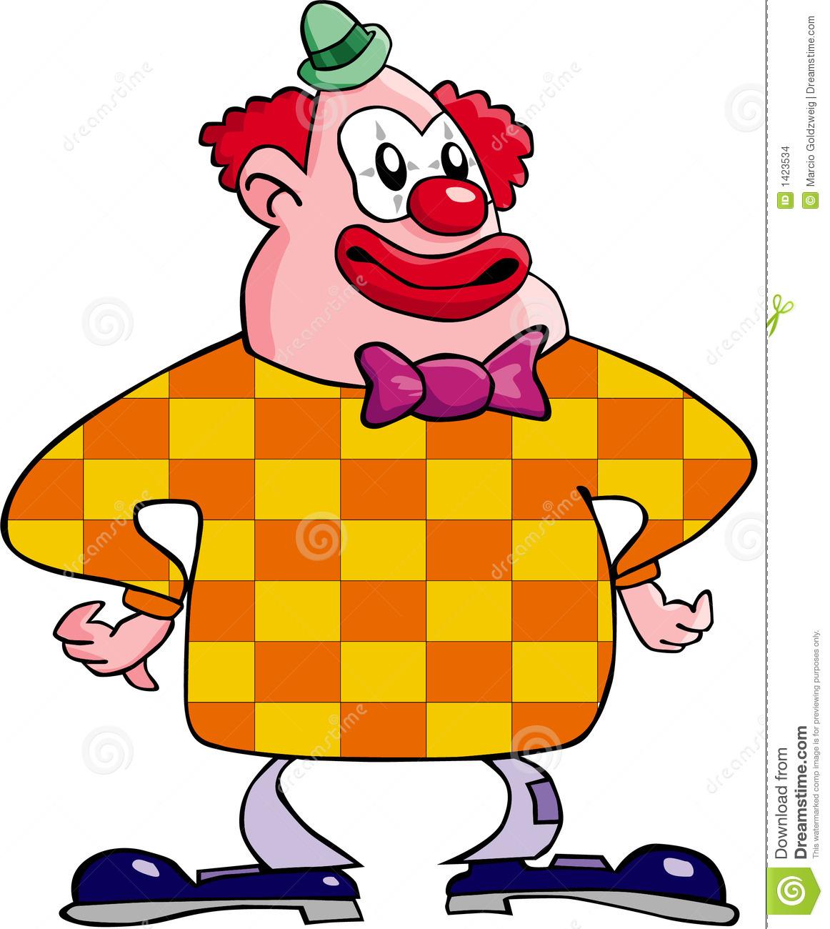 Clown Heureux Illustration Stock. Illustration Du Amusement serapportantà Dessin De Clown En Couleur