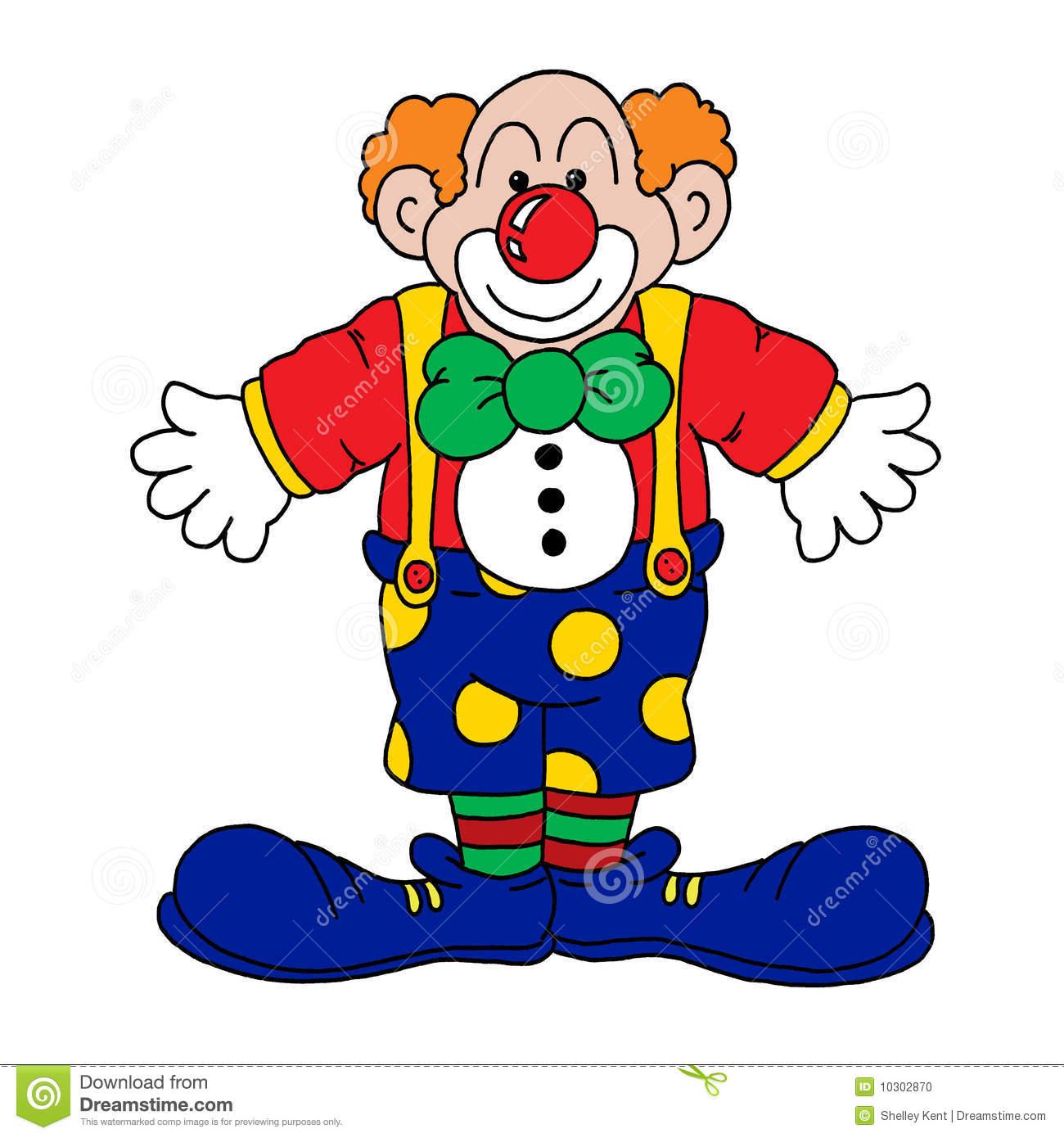 Clown Illustration Stock. Illustration Du Dessiné, Amusement destiné Dessin De Clown En Couleur