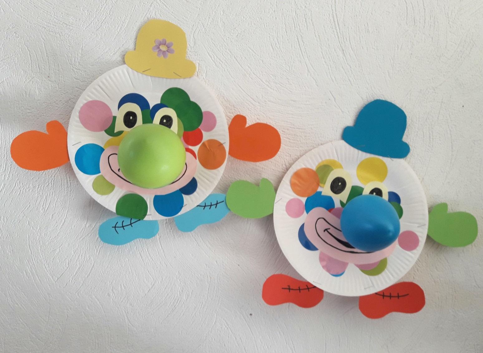Clowns En Assiettes En Carton (Carnaval) - pour Activité Manuelle Facile Faire