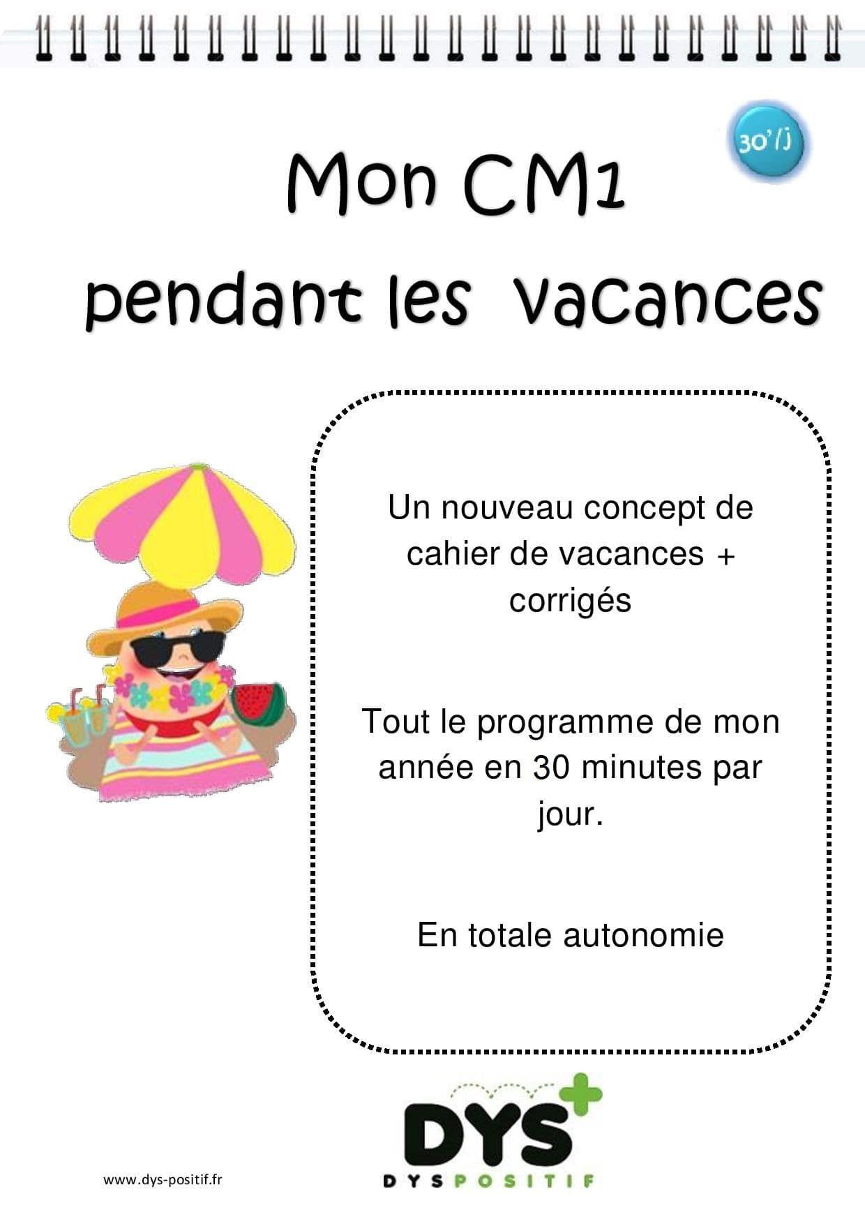 Cm1 – 4Ème Primaire - Fiches À Imprimer Dys | Cahier De avec Cahier De Vacances Adultes Gratuit