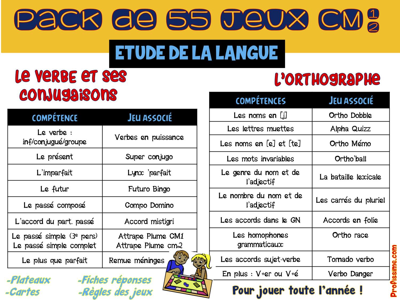 Cm1-Cm2] Pack De Jeux Etude De La Langue - Profissime dedans Jeux Mathématiques Cm2 À Imprimer
