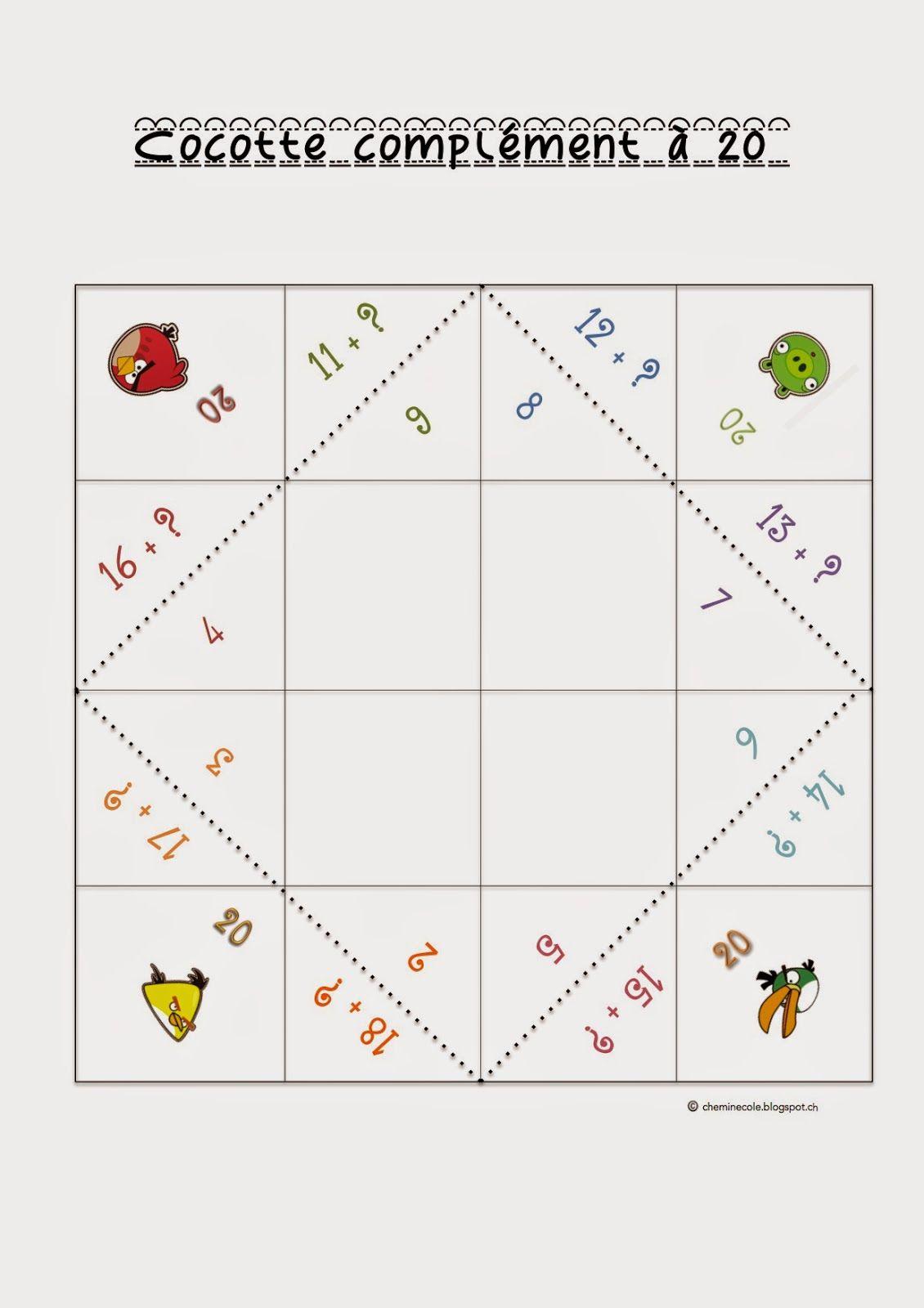 Cocotte Complément À 20   Jeux Calcul, Mathématiques Pour avec Jeu Calcul Enfant