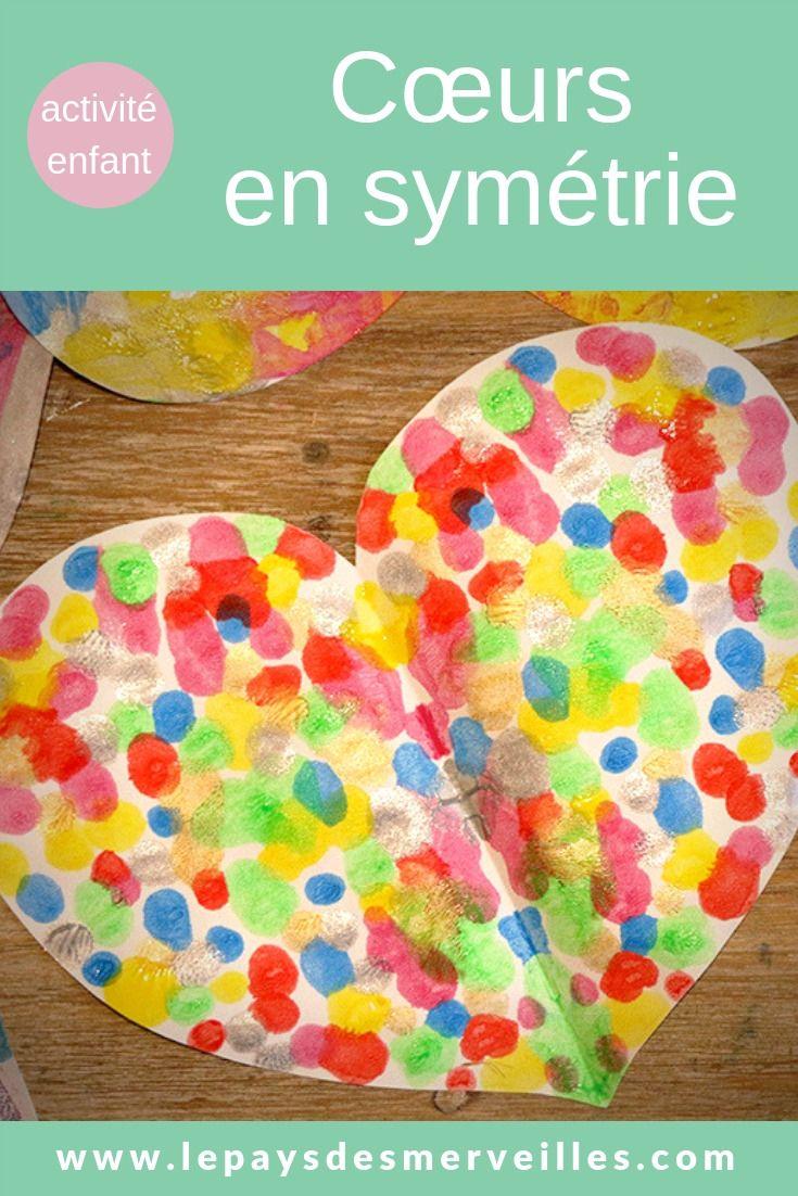 Cœurs En Symétrie | Saint-Valentin Enfants, Activité serapportantà Activité Ludique Maternelle