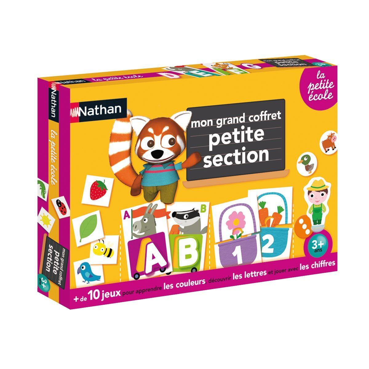 Coffret De Jeux Petite Section De Maternelle Nathan Pour intérieur Petit Jeux 3 5 Ans