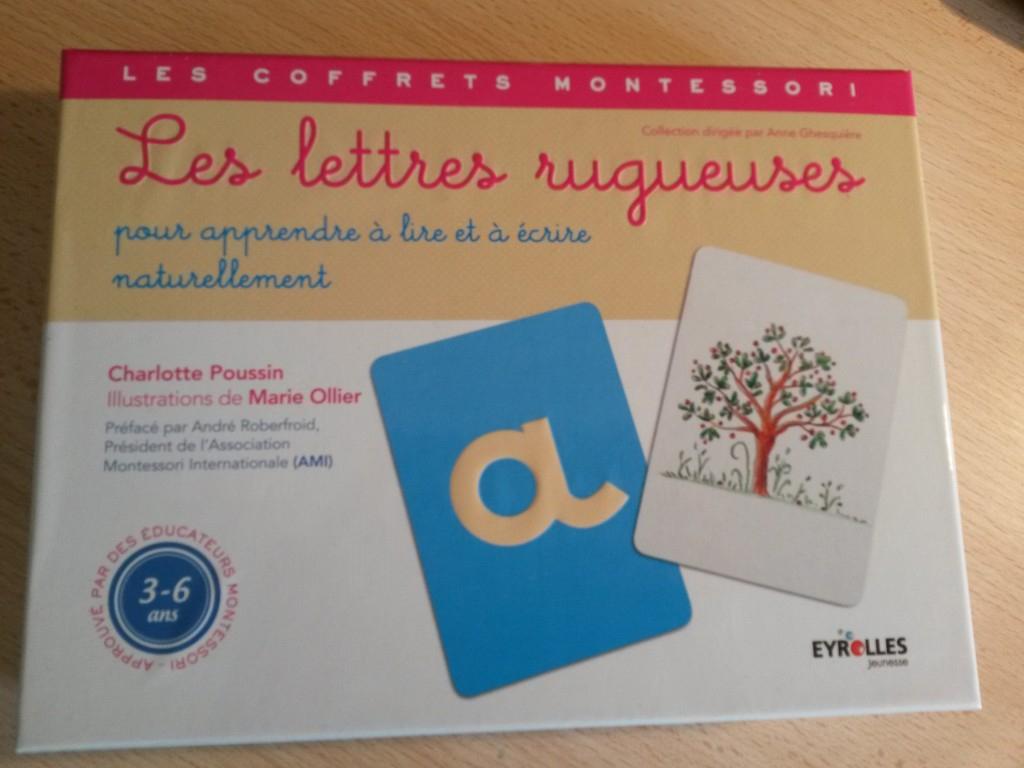 Coffret Montessori Les Lettres Rugueuses avec Jeux Pour Apprendre À Écrire