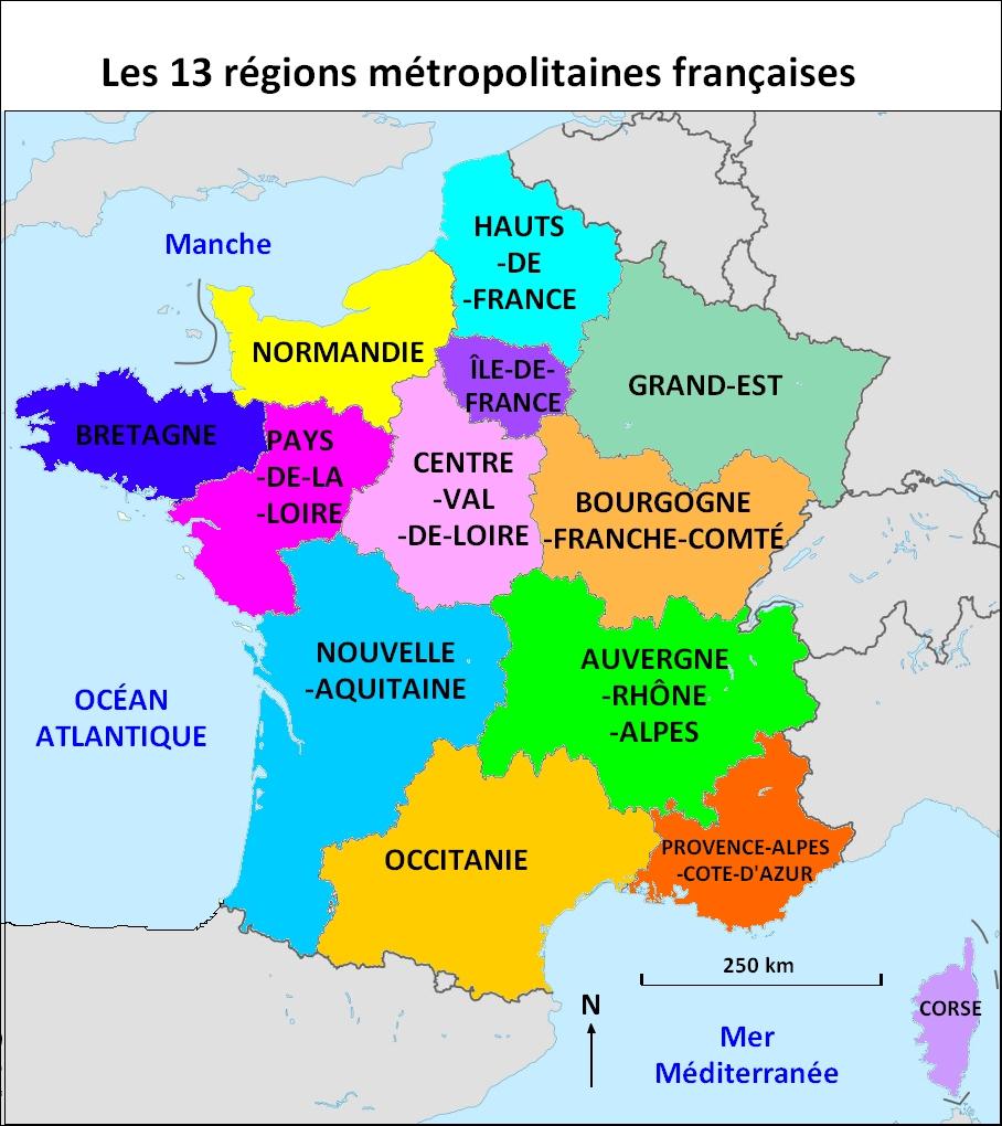 Collège Henri Dunant - Révisions Pour Le Brevet En Histoire destiné Apprendre Carte De France